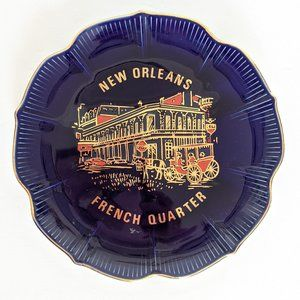 Vintage New Orleans French Quarter Plate Decor